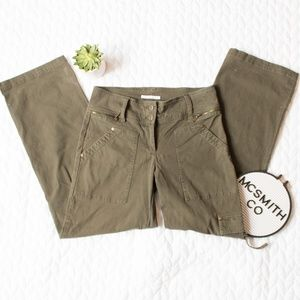 CAbi | Green High Waisted Cargo Utility Pants #944